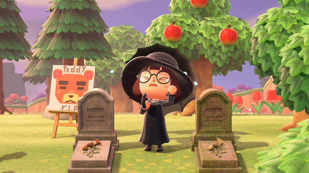cementerio de Animal Crossing