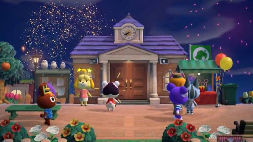 Animal Crossing, fuegos artificiales