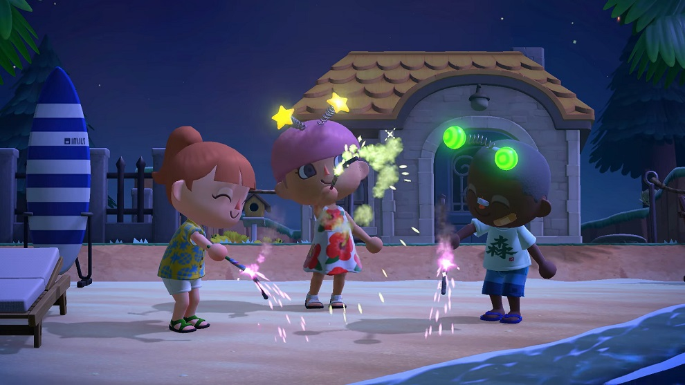 Fuegos artificiales y sueños curiosos llegan a Animal Crossing