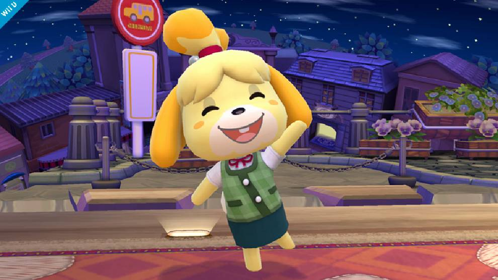 Canela de Animal Crossing sonriendo