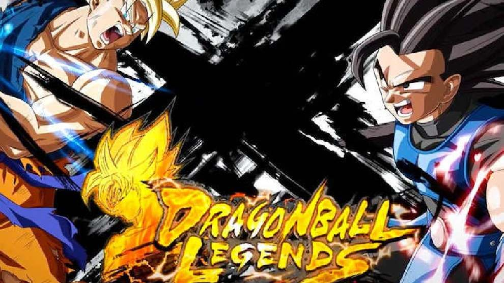 Portada Dragon Ball Legends con Goku y Vegeta