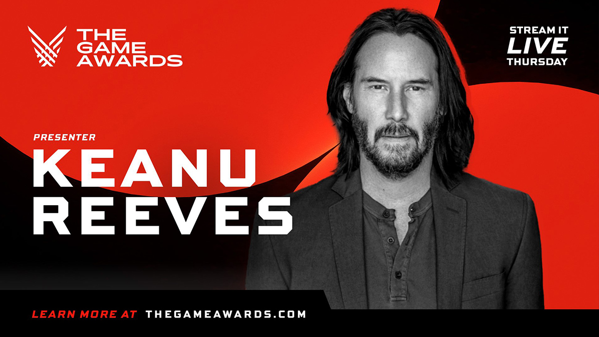Keanu Reeves, último presentador anunciado para The Game Awards