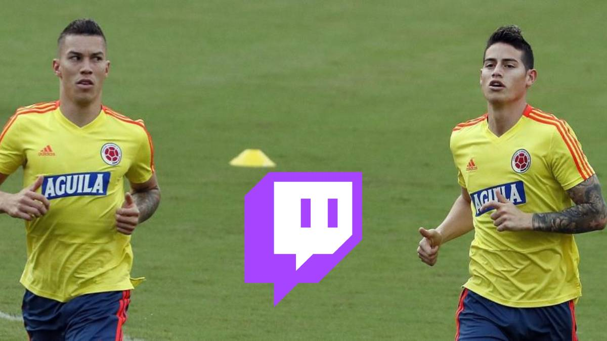James Rodríguez y Matheus Uribe Twitch