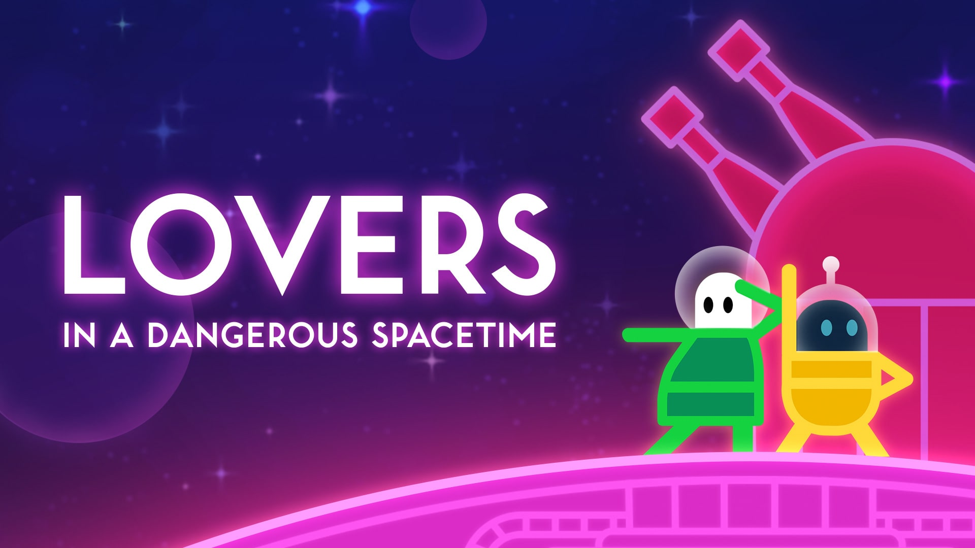 Portada del juego Lovers in a Dangerous Spacetime
